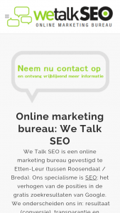 Mobiele website we talk SEO