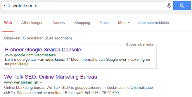 google-site-operator